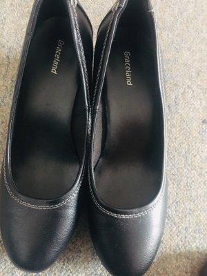 Graceland Chaussure à talons carrés noir