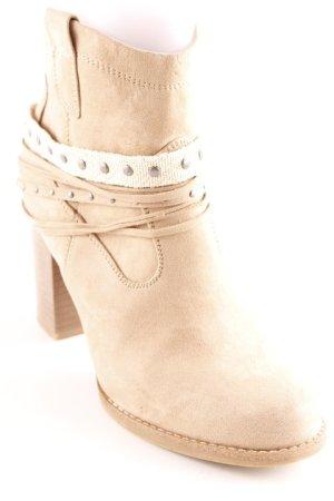 Graceland Reißverschluss-Stiefeletten beige Casual-Look