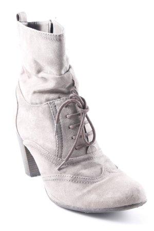Graceland Reißverschluss-Stiefeletten graubraun Casual-Look