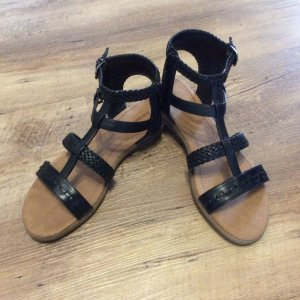 Graceland Roman Sandals black-camel imitation leather