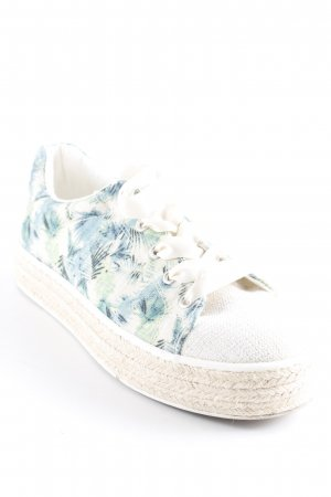 Graceland Schnürsneaker florales Muster Casual-Look