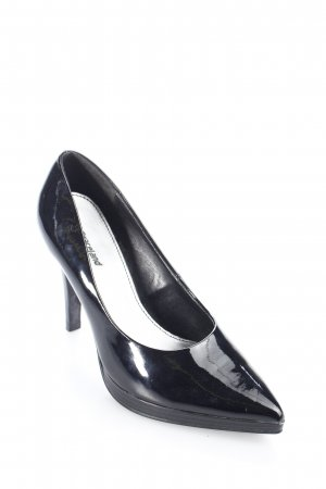Graceland Spitz-Pumps schwarz Lack-Optik