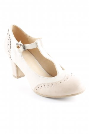 Graceland T-Steg-Pumps hellbeige-beige Casual-Look