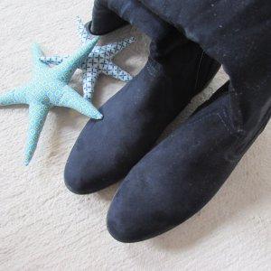Graceland * Traum Langschaft Wildleder-Imitat Stiefel * dunkelblau * 41 NEU