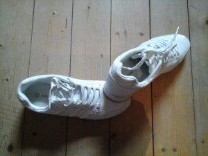 Graceland Turnschuhe Sneakers mit Pailetten weiss und Glitzer Gr. 39 Top