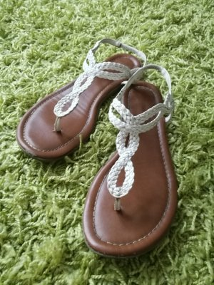 Graceland T-Strap Sandals white-light brown