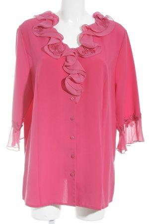 Gracia Rüschen-Bluse pink Vintage-Artikel