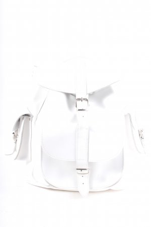 Grafea Backpack white-silver-colored casual look