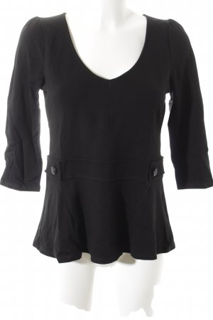 grain de malice A-Linien Top schwarz Business-Look