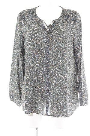 grain de malice Langarm-Bluse abstraktes Muster Elegant
