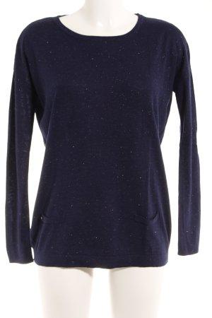 grain de malice T-shirts en mailles tricotées bleu foncé style décontracté
