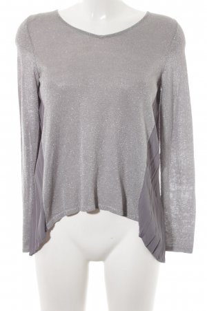 grain de malice V-Ausschnitt-Pullover silberfarben-grau Casual-Look