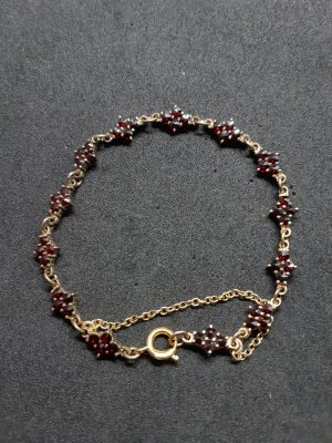 Bangle gold-colored-dark red