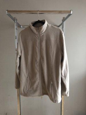 Grau Beige Fleece Jacke