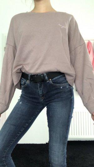 Amisu Jersey largo gris-beige
