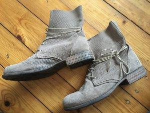 Grau/beige Wildleder Boots