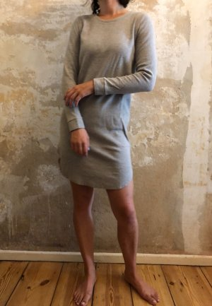 COS Sweater Dress cream-light grey cotton