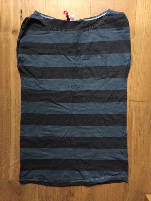 Grau blau gestreiftes Longshirt