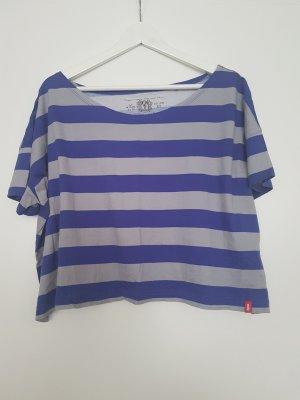 grau-blau gestreiftes Tshirt von ESPRIT