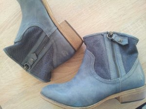 Grau blaue ankle boots booties Stiefeletten
