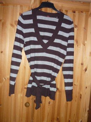 Grau-braun gestreifter Pullover von S Oliver