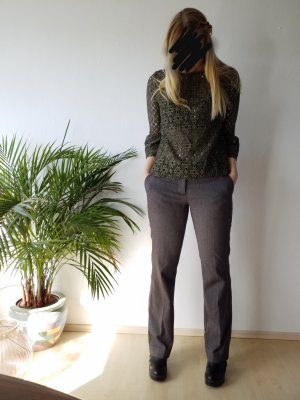 Pantalon taille basse gris brun