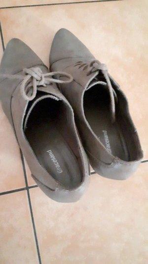 Grau-braune Ankle-Boots