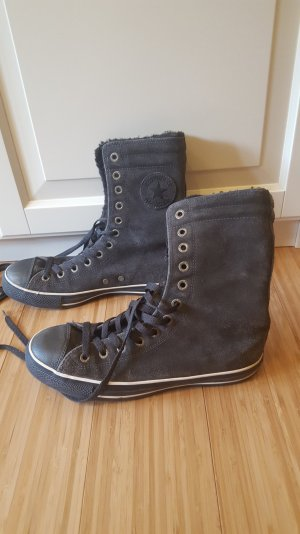grau braune Converse Fell Chucks Hoch