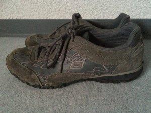 grau/braune Skechers Halbschuhe / Sneakers - Gr. 38