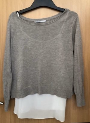 Only Knitted Jumper grey brown-silver-colored