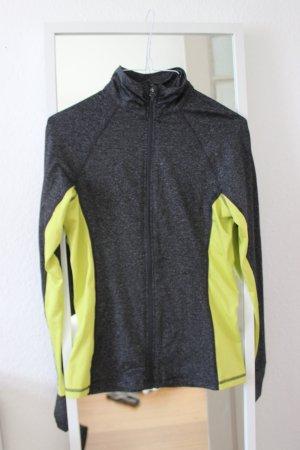 Grau gelbe Sportjacke Laufjacke Running Training
