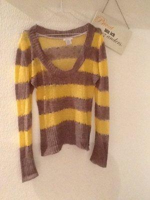 Grau-gelber Pullover in Gr. M von CASTRO