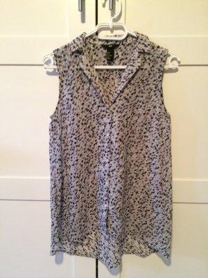 Grau gemusterte Bluse von H&M in XS