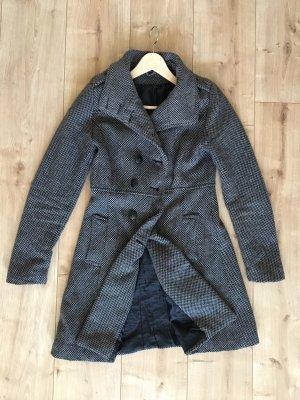 Grau gemusterter Mantel mit Kopfleiste Größe S