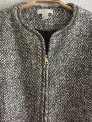 Grau gemusterter Mantel von H&M in Größe 42
