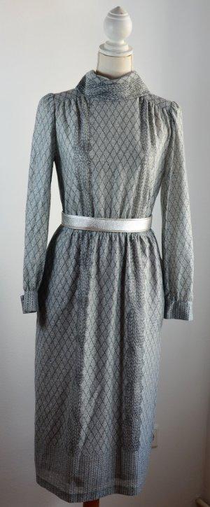 Robe mi-longue gris polyester