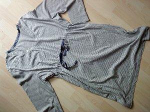House-Frock light grey-dark blue cotton