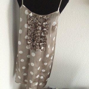 Grau gepunktetes Trägerkleid