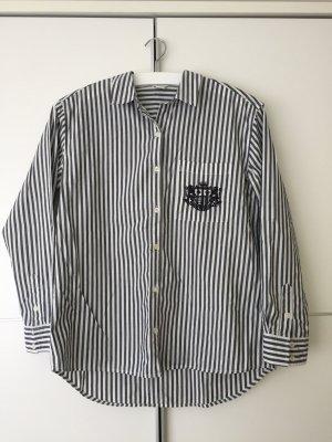 Grau-gestreiftes Oversized-Hemd von Forever21