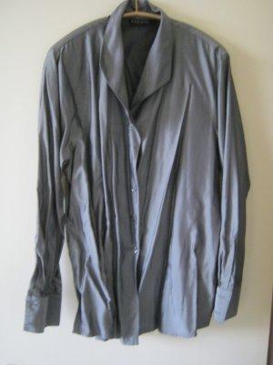 grau glänzende Bluse