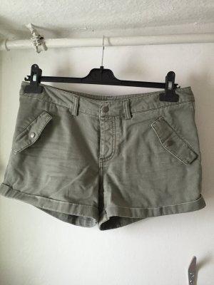 Grau-grüne Cargo Shorts von Only Gr. 38 40