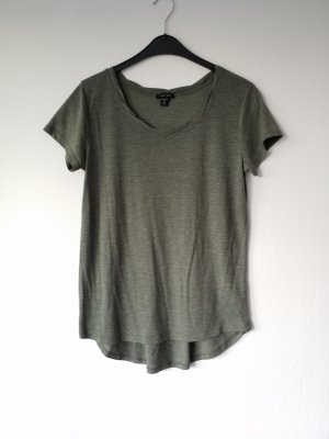 grau grünes lässiges T-Shirt