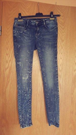 grau melierte Jeans