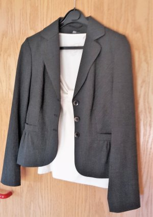 Grau melierte Kostüm Jacke von S.Oliver Selection