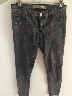Grau-melierte Stretch Jeans