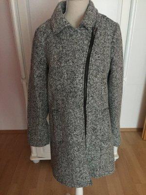Grau melierter Mantel