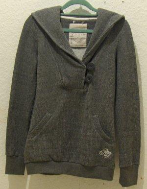 Grau melierter Pullover Kapuzenpullover von Fresh made