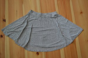Grau melierter Skaterrock Minirock aus Jersey