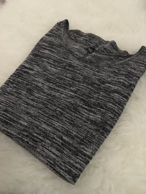 Grau meliertes 3/4 Shirt