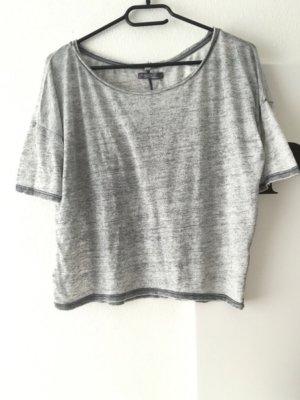 Grau Meliertes Bershka Shirt